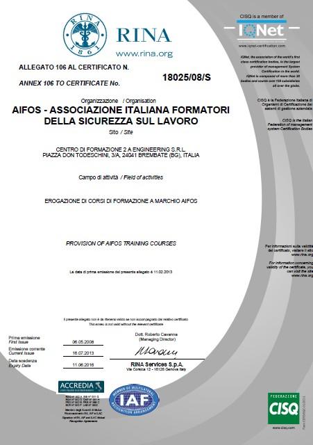 Certificazione RINA